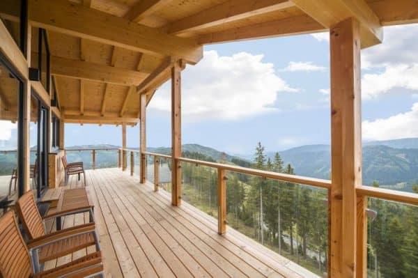 Alpina Lodge - Klippitztörl - Karinthië - 14 personen - balkon terras