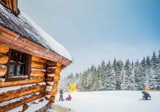 wintersport chalet aan de piste in Oostenrijk