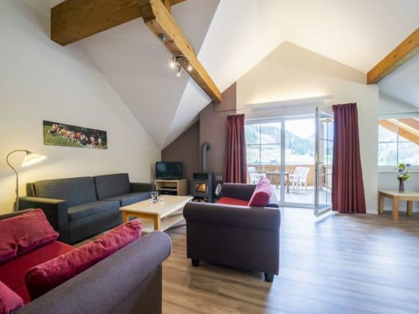 Landal Appartement 8A - Bad Kleinkirchheim - Karinthië - 8 personen - woonkamer met terras