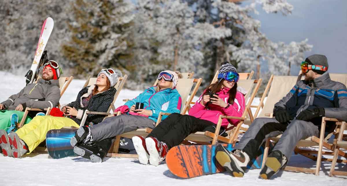 wintersport relaxen