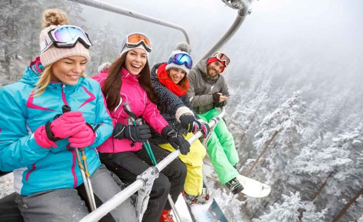 skivakantie in de skilift
