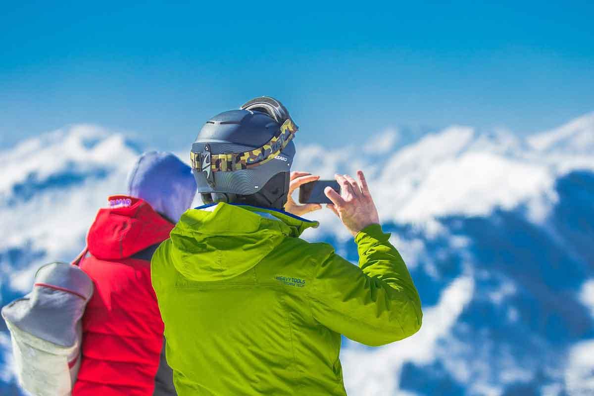 wintersport oostenrijk uitzicht