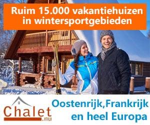 chalet wintersport Oostenrijk banner